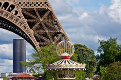 Fun at the Eiffel Tower Stock Image