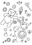Fun Element Coloring Page. Line art children illustration suitable as a coloring sheet Royalty Free Stock Photos
