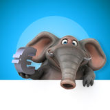 Fun elephant - 3D Illustration Royalty Free Stock Photography