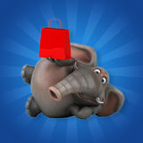 Fun elephant - 3D Illustration Royalty Free Stock Image