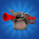 Fun elephant - 3D Illustration Royalty Free Stock Image
