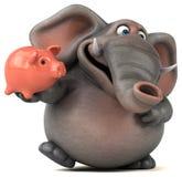 Fun elephant - 3D Illustration Stock Image