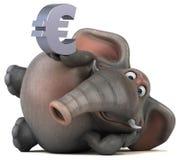 Fun elephant - 3D Illustration Stock Photos