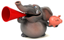 Fun elephant - 3D Illustration Stock Images