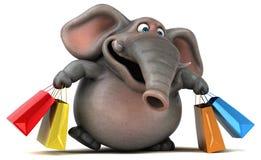 Fun elephant - 3D Illustration Royalty Free Stock Photos