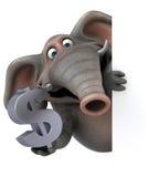 Fun elephant - 3D Illustration Stock Photography