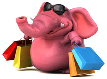 Fun elephant - 3D Illustration Royalty Free Stock Images