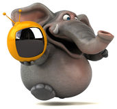 Fun elephant - 3D Illustration Stock Photography