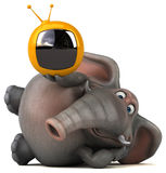 Fun elephant - 3D Illustration Royalty Free Stock Photography