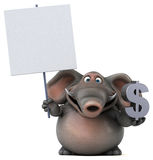 Fun elephant - 3D Illustration Royalty Free Stock Photo
