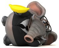 Fun elephant - 3D Illustration Stock Photo