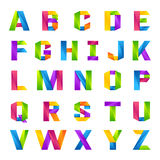 Fun english alphabet one line colorful letters set Royalty Free Stock Photography
