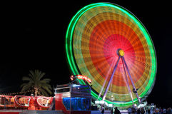 Fun for everybody. Colorful Ferris-wheel Royalty Free Stock Photography