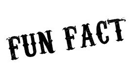 Fun Fact rubber stamp Stock Images