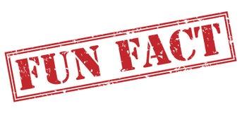 Fun fact stamp Stock Photos