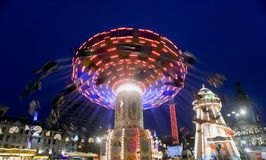 Fun fair. In George Square Glasgow Scotland Royalty Free Stock Photography