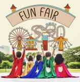 Fun Fair Amusement Enjoyment Happiness Joyful Concept Royalty Free Stock Photos