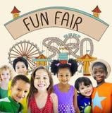 Fun Fair Amusement Enjoyment Happiness Joyful Concept Royalty Free Stock Images
