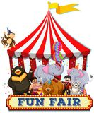 A Fun Fair with Animals royalty free illustration