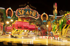 Fun fair atraction by night Royalty Free Stock Image