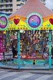 Fun Fair Carnival Luna Park moving carousel Royalty Free Stock Photography