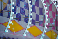 Fun Fair Carnival Luna Park moving lights background Stock Image