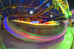Fun Fair Carnival Luna Park moving lights background Royalty Free Stock Photos