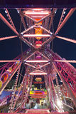 Fun Fair Carnival Luna Park panoramic wheel Stock Images