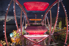Fun Fair Carnival Luna Park panoramic wheel Stock Photo