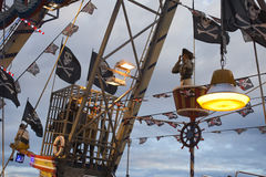 Fun Fair Carnival Luna Park pirates ship Stock Photos