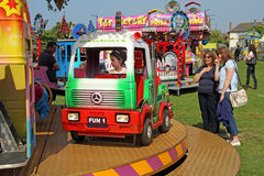Fun fair fairground rides Stock Photography