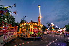 Fun Fair Ground in Brno, Czech Republic Royalty Free Stock Image