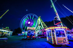 Fun Fair Ground in Brno, Czech Republic Stock Photo
