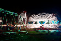 Fun fair at night Stock Image