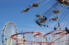 Fun fair rides Stock Image