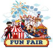Fun Fair and Rides. Illustration vector illustration