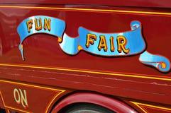 Fun fair sign. Royalty Free Stock Images