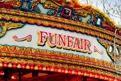 Fun fair sign stock image