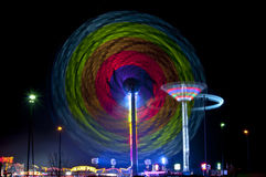 Fun Fair. Taken on slow shutter speed Stock Image