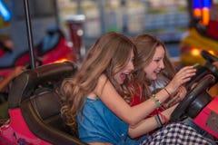 Fun at the fair. Teens having fun at the fair Stock Image