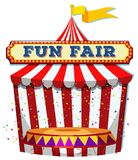 A Fun Fair Tent on White Background royalty free illustration