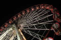 Fun Fair Wheel Gondolas Royalty Free Stock Images