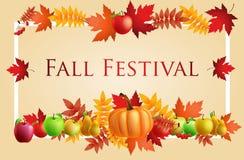 Fun Fall Festival Invitation Flyer.  Stock Photo