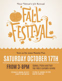 Fun Fall Festival Invitation Flyer. Fall Festival event flyer with hand drawn typography stock illustration