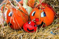 Fun fall pumpkins Royalty Free Stock Image