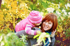 Fun in fall Royalty Free Stock Photography