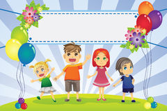 Fun family banner Royalty Free Stock Photography