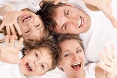 Fun family Royalty Free Stock Images