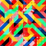 Fun Fashion Geometric Pop Art 1980 Style Pattern Stock Images
