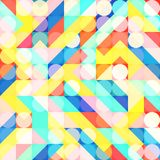 Fun Fashion Geometric Pop Art 1980 Style Pattern Stock Photos